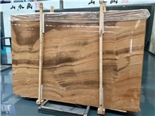 Imperial Wood Vein Marble Royal Yellow Floor Tiles