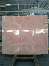 Iran Naghadeh Pink Onyx Slab Wall Tiles Vanity Use
