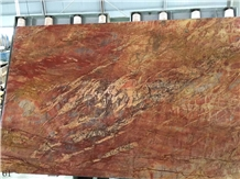 Iran Ruby Red Marble Slab Tiles Wall Cladding