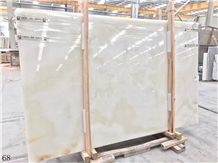 Iran White Onyx Slab Tiles Wall Cladding Flooring