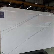 Linken White Black Vein Marble Slab Tile Discount