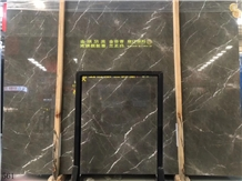 New Grey Marble Real Madrid Ash Stone Slab Floor