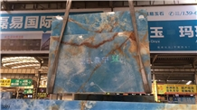 Pakistan Blue Onyx Slab Wall Floor Tiles