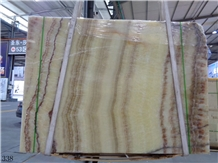 Seben Rainbow Honey Onyx Slab Tiles Wall Cladding