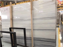 Snowflake Grain Wood Marble Slabs Interior Wall