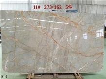 Turkey Picasso Gold Golden Marble Slab Tile Floor