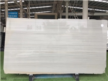 Vermion Roman Wooden White Marble Slab for Tile