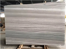 White Fantasy Wood Marble Slab Tiles Walling