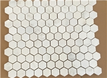 White Crystal Marble Mosaic Tile