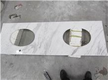 Natural Stone Polishe Aiax Volaks White Countertop
