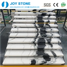 Good Quality Polished Panda White Marble Stair