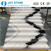 Panda White Marble Luxury Interior Home Stair Case