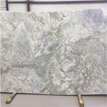 Polished Brazil Avalanche Marble Vein Cut Slab