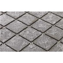 Silver Grey Mosaic Stone