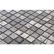 Silver Shine Mosaic Stone