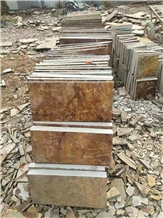 China Rusty Wall Cladding Flooring Stone