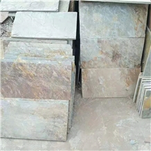 Green Rusty Slab Tiles Flooring Stone Wall Tile
