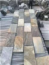 Multicolor Slate Slab Paving Stone Flooring Stone