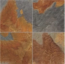 Rusty Slate Flooring Stone Paver Rode Stone