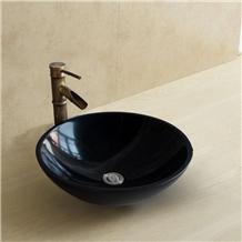 China Customized Black Marble Sink Polished