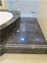 Chinese Dark Emperador Brown Marble Floor Tiles