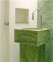 China Verde Ming Marble Basins for Hotel