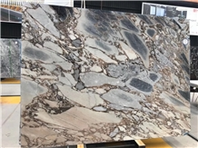 Galaxy Blue Marble Polished Slab Custom for Wall