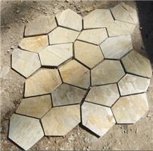 Slate Flagstone Courtyard Flooring Paving Pattern