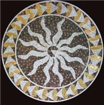 Water-Jet Glass Mosaic Design Simple Decoration