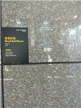 Royal Red Brown Granite Slabs, Tiles
