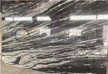 Black Manhattan Granite, Copacabana Cosmic Black Granite Slabs
