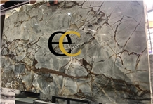 Brazil Imperial Roma Blue Quartzite Slabs Tiles