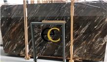 China Venice Smoky Gold Grey Marble Slabs & Tiles