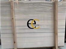 Crystal White Wood Jade Marble Slabs Tiles