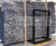Emperor Grey/Black, Fossil Gray Marble Slabs Tiles