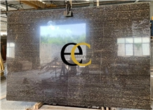 Fantasy Black Gold Flower Marble Slabs & Tiles