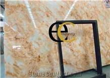 Golden Silk Ice Jade Marble Slabs Tiles Floor Wall