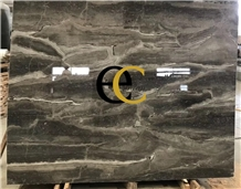 India Bhainslana Black Fantasy Marble Slabs Tiles