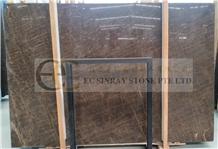 Iran Brown Marshal Marble Slab Tile Wall Floor