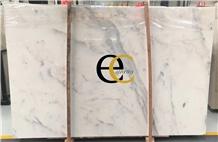 Italy Calacatta Altissimo White Marble Slabs Tiles