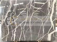 Izmir Skyfall Carso Grey Marble Slabs Tiles Floor