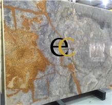 Mexican Silver Grey Cloudy Onyx Slabs Tiles