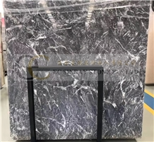 Royal Grey, Gray Bensilimane Marble Slab Tile Wall
