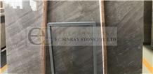 Sandy Gold Brick Grey Marble Slabs Tiles Floor