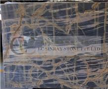 Thunder Crystal Blue Marble Slabs Tiles Floor Wall