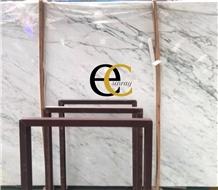 Turkey Calacatta Lucina White Marble Slabs Tiles