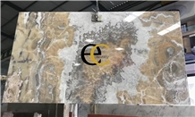 Turkey Sahara Sivas Gold Onyx Slabs Tiles