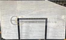 White Grey Icelandic Wood Grain Marble Slab & Tile