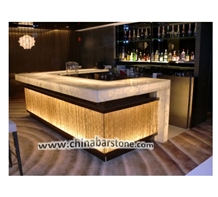 Modern Led Artificial Stone Bar Counter