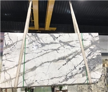 Turkey Polished White Color Iceberg White Marble